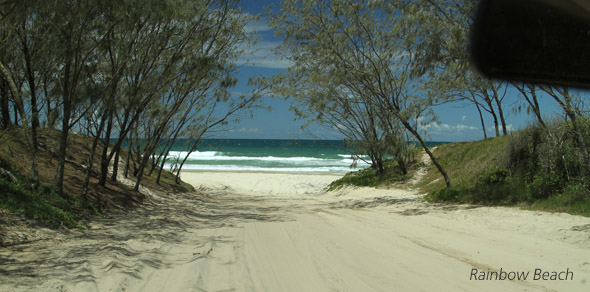 Hire a 4WD on Rainbow Beach